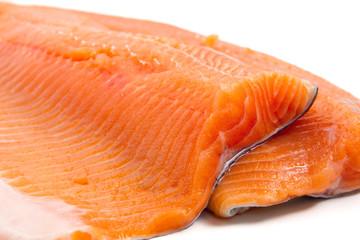 trota salmonata - trout fillet closeup