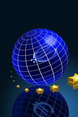 Erde Gitternetz Euro Zukunft