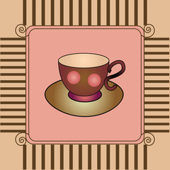card with cup and saucer