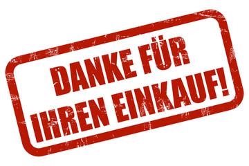 Grunge Stempel rot DANKE FÜR IHREN EINKAUF!