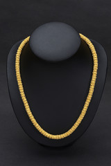 Thai ancient style golden necklace hard to find today.