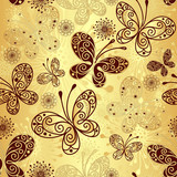 Fototapety Gold-brown seamless pattern