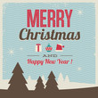greeting card, merry christmas and happy new year