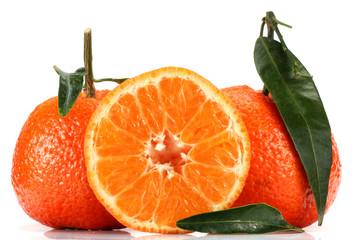Clementine angeschnitten