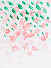 hand drawn watercolor illustration of pink flowers