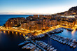 Aerial View on Fontvieille and Monaco Harbor with Luxury Yachts,