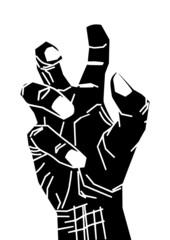 hand aggressiv