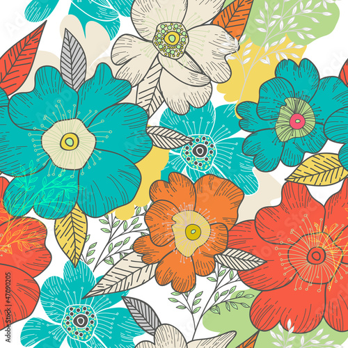 Fototapeta Floral background