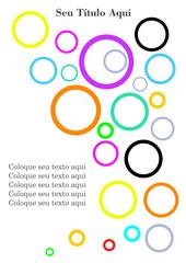 Vector Plano de Fundo Abstrato com Bolhas Coloridas