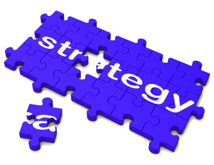 Strategy Sign Showing Planning And Tactics