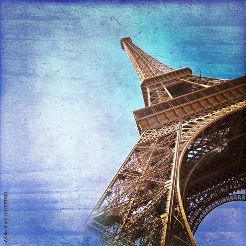 Tour Eiffel vintage couleur - 47092630