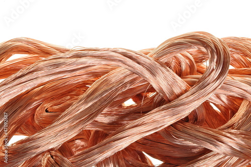 Copper wire in abstract form, idea of ​​relationship