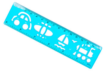 Plastic ruler and stencil