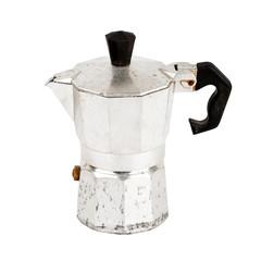 Old aluminum coffee maker