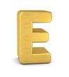 buchstabe letter E gold vertikal