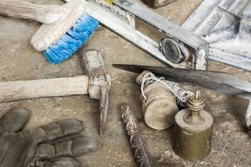 Construction masonry cement mortar tools