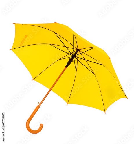 yellow umbrella on a white background