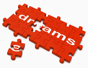 Dreams Sign Showing Hope And Desires