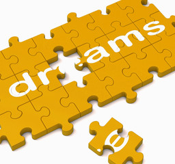 Dreams Puzzle Showing Inspiration And Wishes