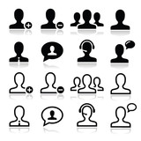 User man avatar icons set