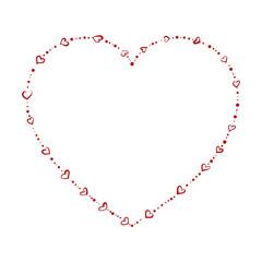 heart shaped beads vector eps8