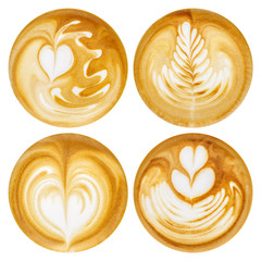 Latte Art, coffee in white background © Sergey Bogomyako