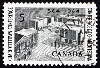 Postage stamp Canada 1964 Fathers of Confederation Memorial
