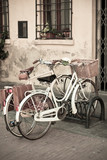 City White Bicycles with Basket - 47097097