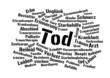 Tod wordcloud - Abschied nehmen