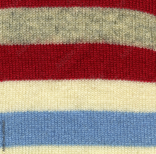 Striped wool texture