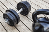 kettlebell and dumbbell - 47099062