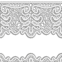 White lace,  realistic horizontal seamless background
