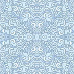 Swirly seamless pattern for winter design