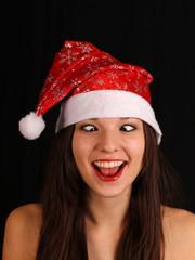 Lustige Weihnachtsfrau