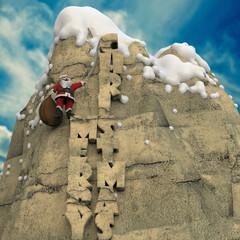 Papá Noel Subiendo Montaña