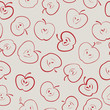 apple seamless pattern vector eps8
