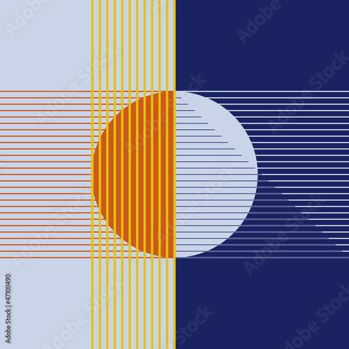 sole e luna astratto