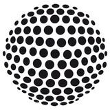 Abstrakte 3D-Kugel aus Kreisen - freigestellt - 47100847