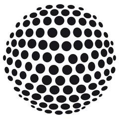 Abstrakte 3D-Kugel aus Kreisen - freigestellt