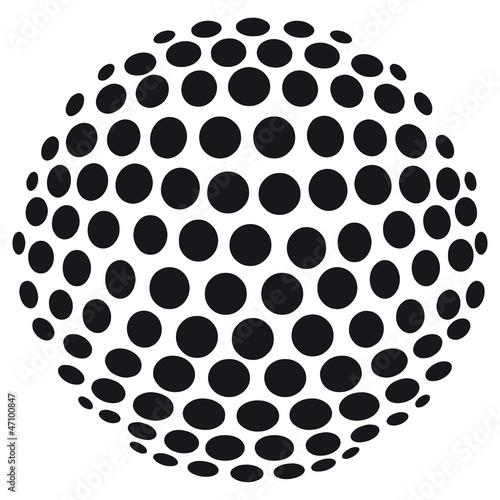 Fototapeta Abstrakte 3D-Kugel aus Kreisen - freigestellt