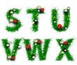 Grass letters s, t, u, v, w, x