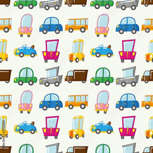 Foto op Plexiglas Op straat seamless car pattern