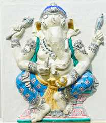 God of success 22 of 32 posture. Indian or Hindu God Ganesha ava