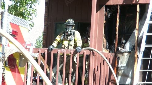 Fireman in Mask at Emergency
