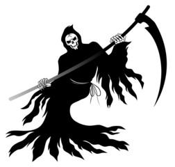 鎌を振り回す死神
