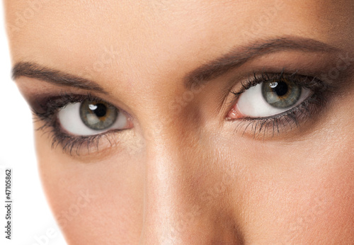 Woman eyes with makeup