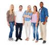 Gruppe attraktiver Jugendlicher