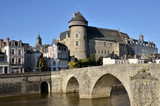 The river Mayenne at Laval in France - 47106495
