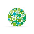 Green spheres background # Vector
