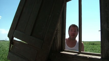 Man Knocks on Window in Country